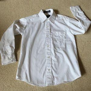 Docker White Button-up Dress Shirt - 10